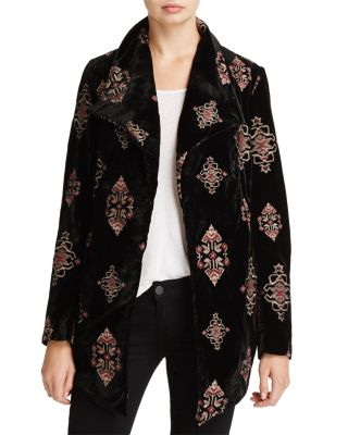 EMBROIDERED VELVET JACKET - 100% EXCLUSIVE