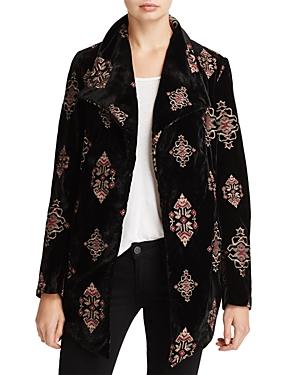 Karen Kane Embroidered Velvet Jacket - 100% Exclusive