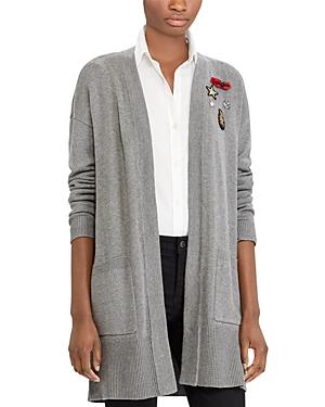 Lauren Ralph Lauren Embellished Open-Front Cardigan