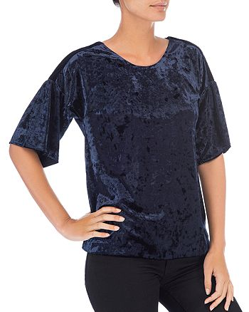 B Collection by Bobeau - Emma Velvet Bell Sleeve Top