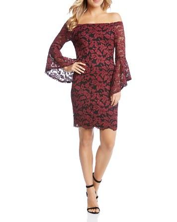 $Karen Kane Samantha Off-the-Shoulder Lace Dress - Bloomingdale's