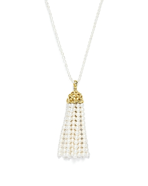 Bloomingdale's Cultured Freshwater Pearl Tassel Pendant Necklace in 14K Yellow Gold, 31 - 100% Exclusive