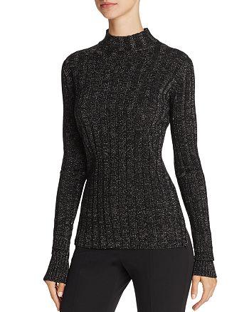 Theory - Metallic Ribbed Merino Wool Sweater