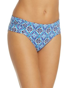 Tommy Bahama Tika Tiles Reversible Shirred Hipster Bikini Bottom