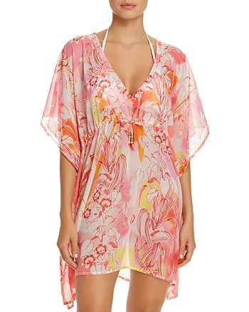 Echo - Seaside Floral Tunic Swim Cover-Up