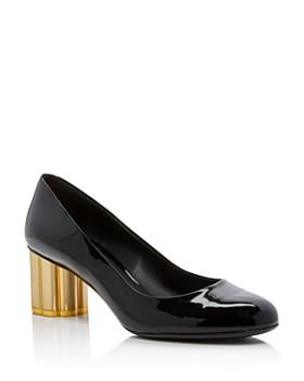 c3f8f268768 Salvatore Ferragamo - Women s Lucca Patent Leather Floral Heel Pumps ...