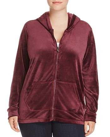 Marc New York Plus - Velour Zip Hoodie