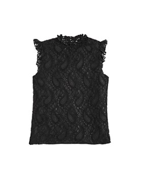 AQUA - Girls' Lace Mockneck Top, Big Kid - 100% Exclusive