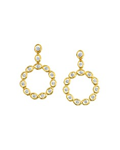 Gumuchian - 18K Yellow Gold Diamond Oasis Circle Drop Earrings