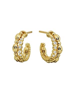 Gumuchian 18K Yellow Gold Diamond Small Nutmeg Double Hoop Earrings