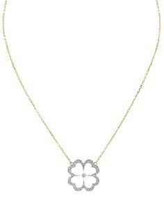 "Gumuchian 18K White & Yellow Gold G Bouqitue Kelly Pavé Diamond Clover Pendant Necklace, 16"" - Bloomingdale's_0"