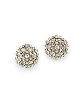 Roberto Coin - 18K Yellow & White Diamond Cluster Earrings