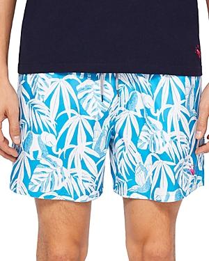 Ted Baker Oakhil Leaf Print Swim Shorts