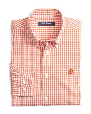 Brooks Brothers Boys' Non-Iron Gingham Sport Shirt - Big Kid