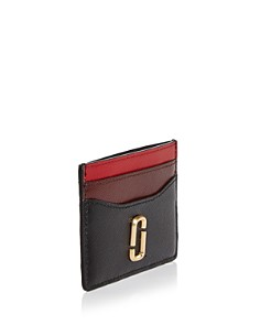 MARC JACOBS - Snapshot Color-Block Embossed Leather Card Case