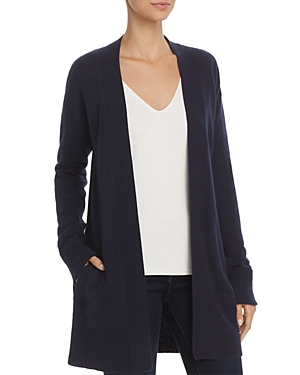 Theory Relaxed Open-Front Cashmere Cardigan