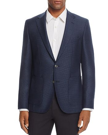 BOSS - Janson Regular Fit Micro Pattern Sport Coat