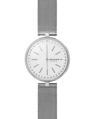 SKAGEN CONNECTED Women'S Signatur Stainless Steel Mesh Bracelet Hybrid Smart Watch 36Mm in Silver