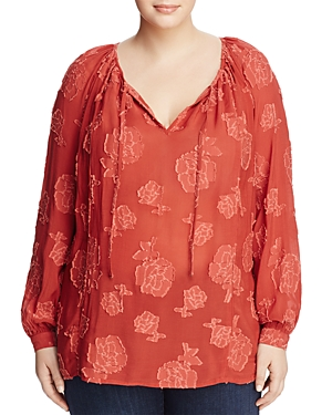 Lucky Brand Plus Floral Top