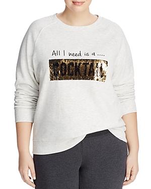 Marc New York Performance Plus Moving Sequins Graphic Sweatshirt