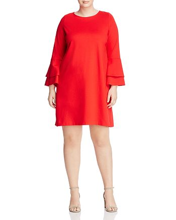 Love Ady Plus - Tiered Bell Sleeve Dress - 100% Exclusive