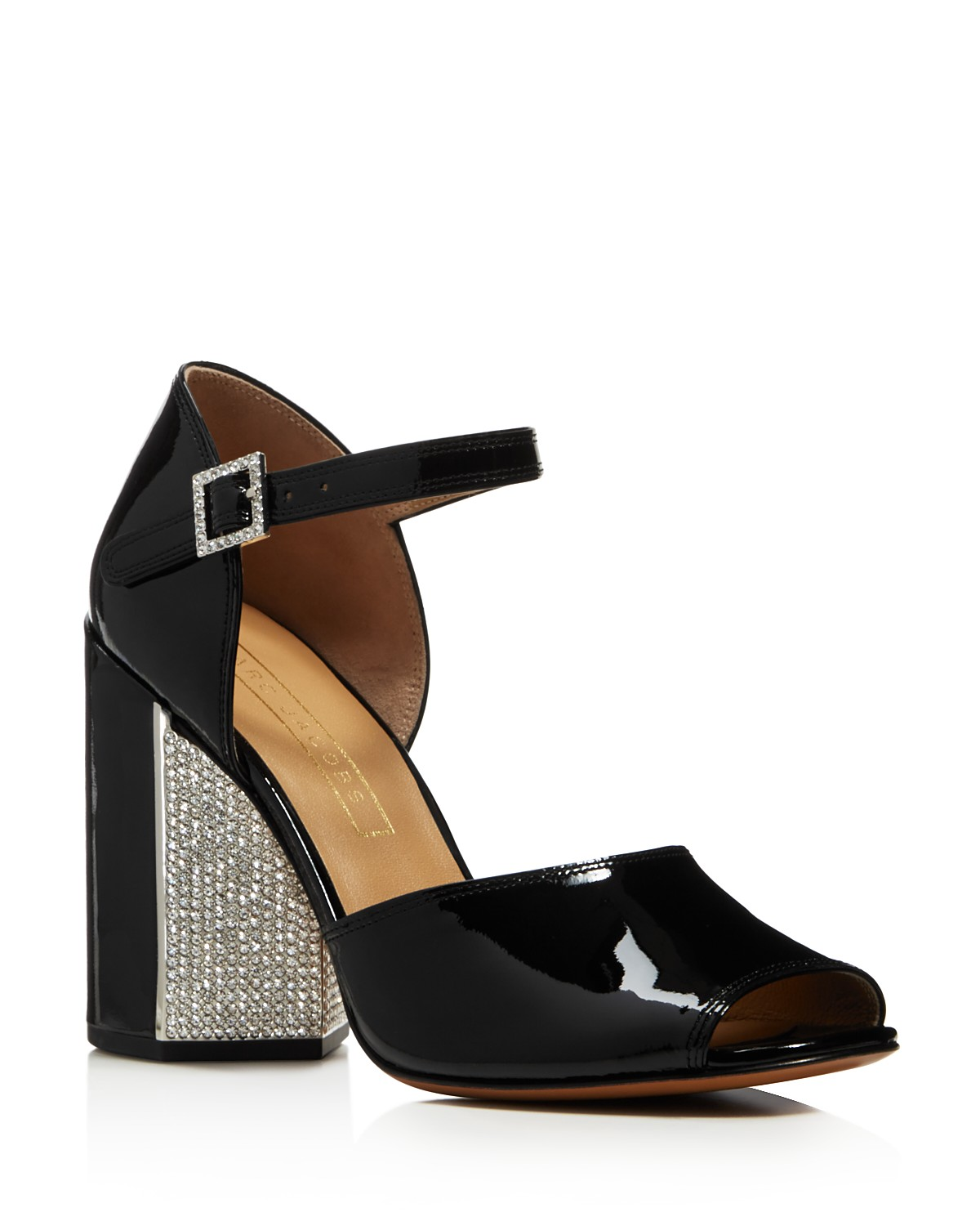 Marc Jacobs Women's Kasia Embellished Patent Leather Block Heel Sandals mqQJE