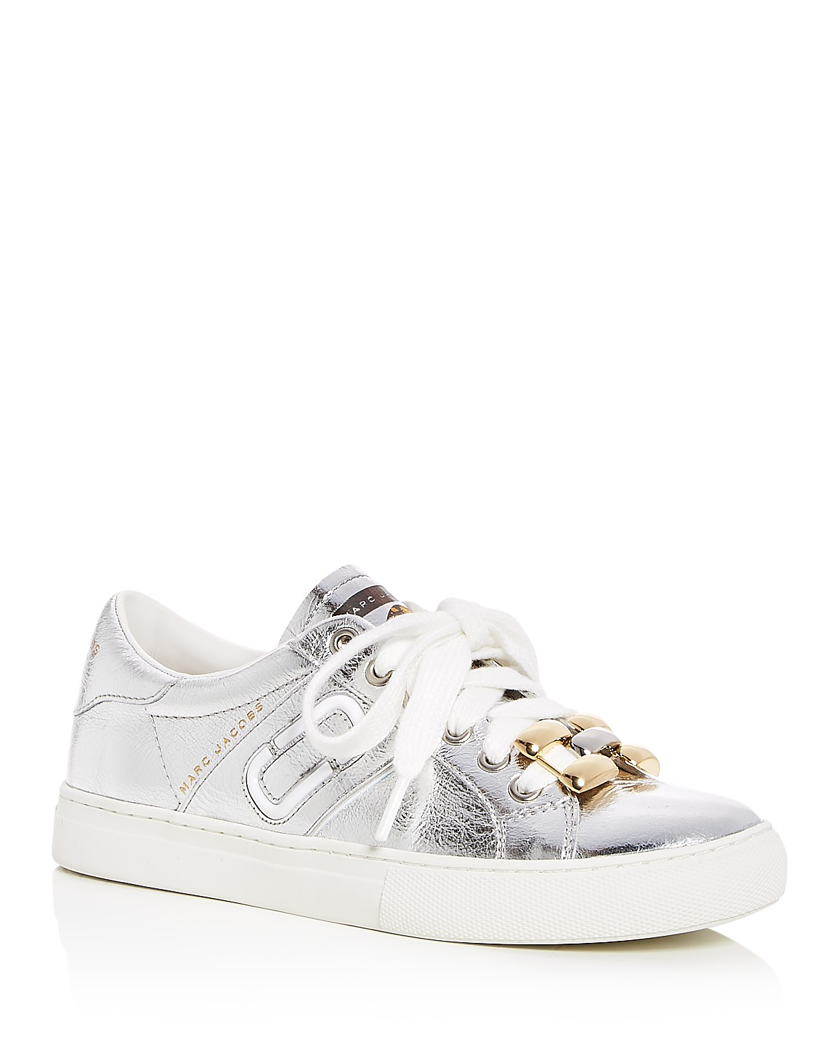 Marc Jacobs Women's Empire Leather Chain Link Lace Up Sneakers qoSLl