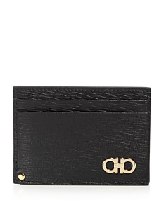 Salvatore Ferragamo - Gold Gancini Revival Card Case with ID