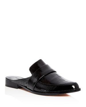 Rebecca Minkoff Women's Mika Patent Leather Apron Toe Loafer Mules