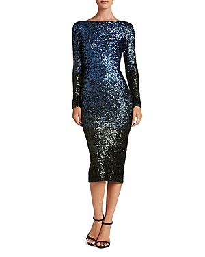Dress the Population Emery Ombre Sequin Dress