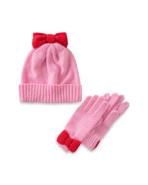 kate spade new york Girls' Bow Hat & Gloves Set - Big Kid