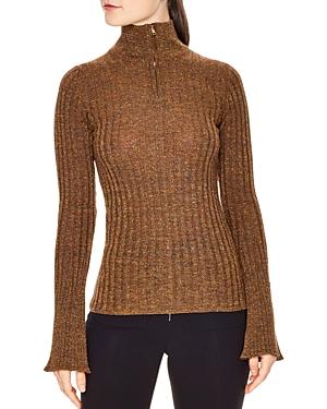 Sandro Precilia Ribbed Shimmer Sweater