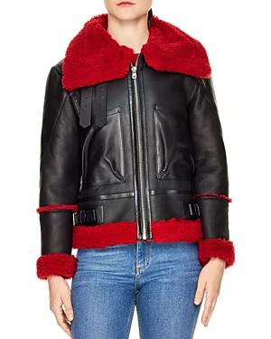 Sandro Amber Shearling Jacket