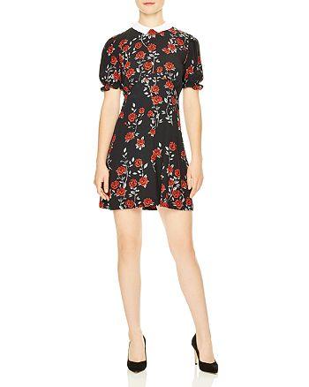 Sandro - Lulu Rose Print Dress