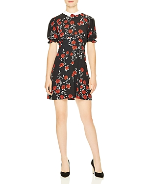 Sandro Lulu Rose Print Dress