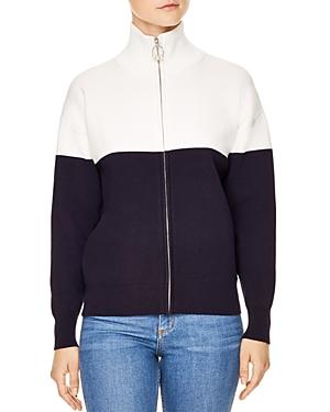 Sandro Roxane Color-Block Sweater