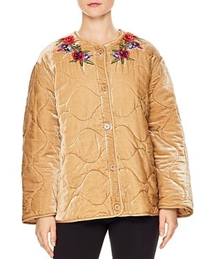 Sandro Reva Embellished Velvet Jacket