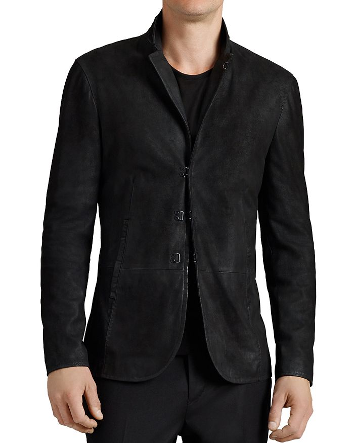 John Varvatos Collection - Suede Hook And Bar Slim Fit Jacket