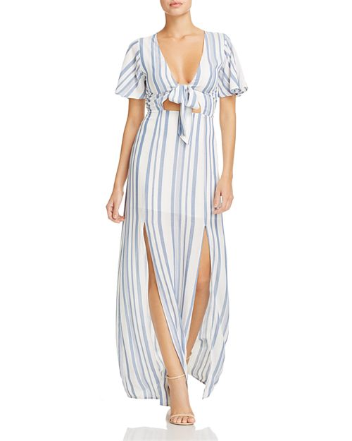 Lost and Wander Lost + Wander Marina Striped Tie-Front Dress ...