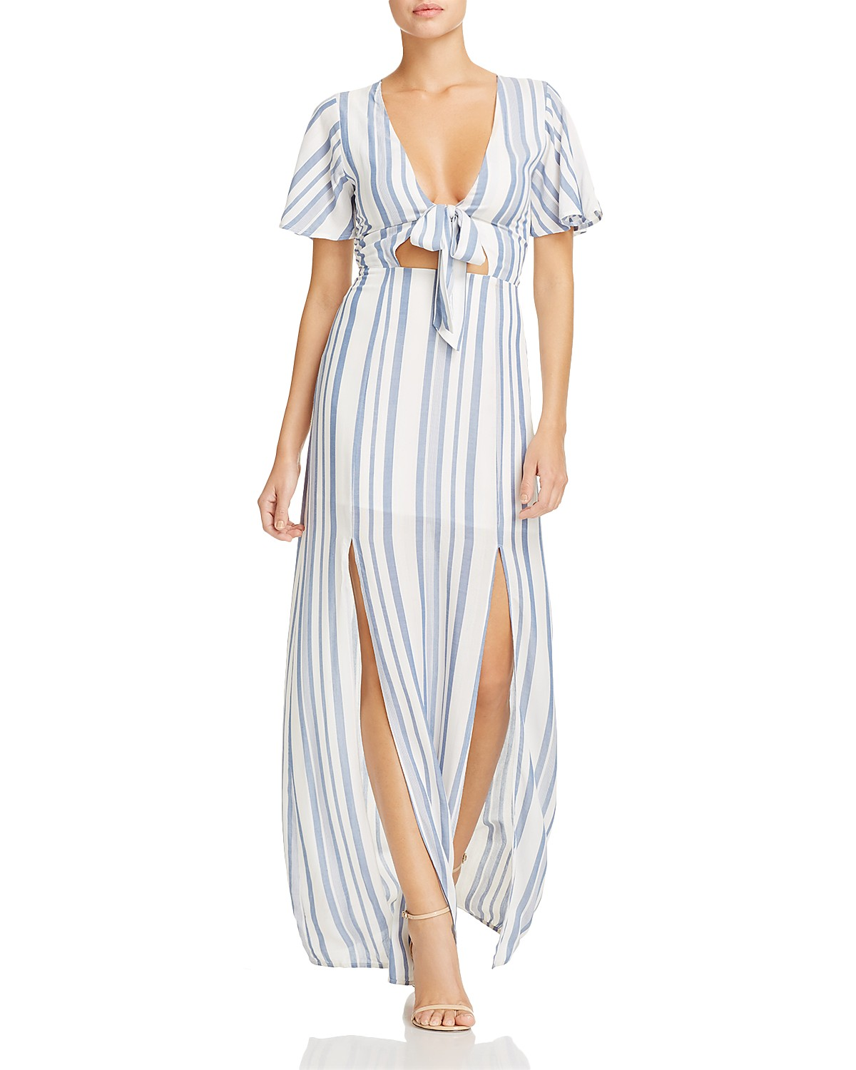 Lost + Wander Marina Striped Tie-Front Dress | Bloomingdale\'s