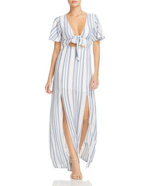 Lost + Wander Marina Striped Tie-Front Dress