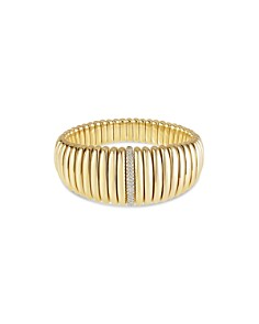 Hulchi Belluni - 18K Yellow Gold Tresore Diamond Graduated Banded Bracelet