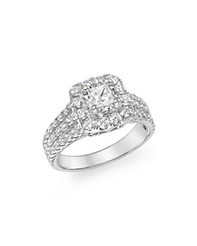 Bloomingdale's - Diamond Princess Cut Engagement Ring in 14K White Gold, 1.50 ct. t.w. - 100% Exclusive