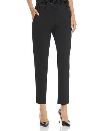 BOSS - Tiokenia Button Waist Straight Ankle Pants