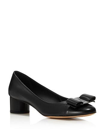 Salvatore Ferragamo - Women's Ivrea Leather Cap Toe Pumps