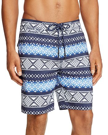 SURFSIDESUPPLY - Geometric Stripe Board Shorts