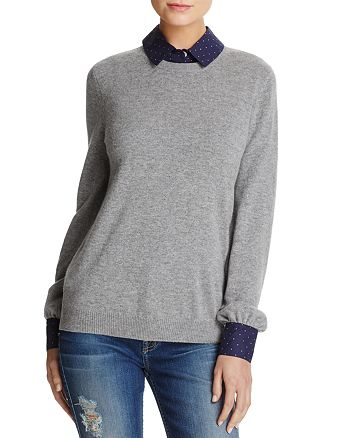 Joie - Bahiti Wool & Cashmere Faux Shirt Underlay Sweater