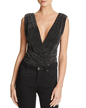 French Connection Marcelle Crisscross-Detail Sparkle Bodysuit
