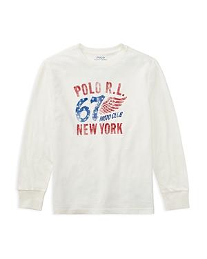 Ralph Lauren Childrenswear Boys' Moto Club Graphic Tee - Big Kid