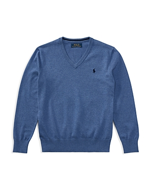 Ralph Lauren Childrenswear Boys' V-Neck Sweater - Big Kid